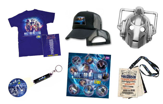 doctor who live merchandise