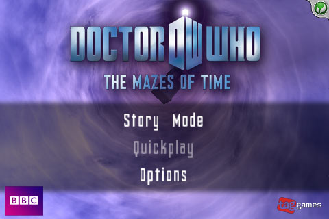 Doctor Who The Mazes of Time intro screen