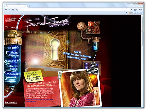 Sarah Jane Adventures Official Website